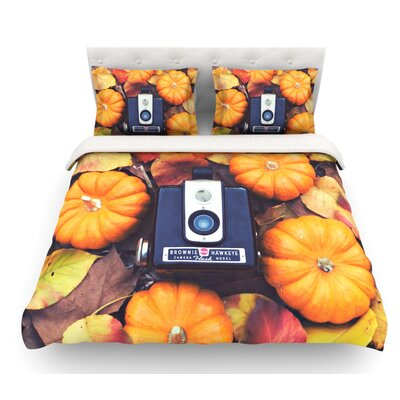 The Four Seasons: Fall by Libertad Leal Featherweight Duvet Cover Size: Twin, Fabric: Cotton