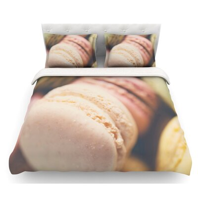 Macaroon Goodness by Laura Evans Pastel Food Featherweight Duvet Cover Size: King