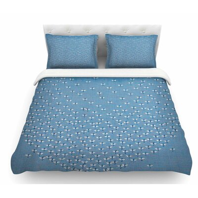 Being Here by Laura Nicholson Featherweight Duvet Cover Size: Twin