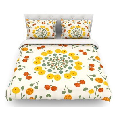 Ranunculas by Laura Nicholson Floral Featherweight Duvet Cover Size: King