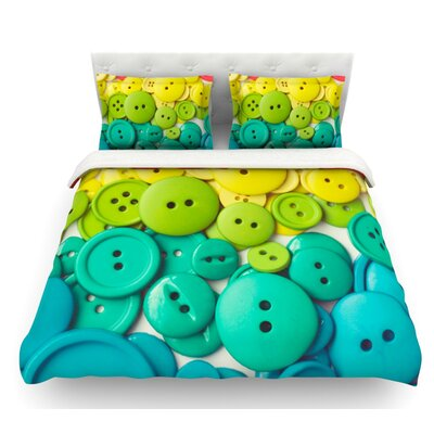 Cute as a Button by Libertad Leal Featherweight Duvet Cover Size: Queen