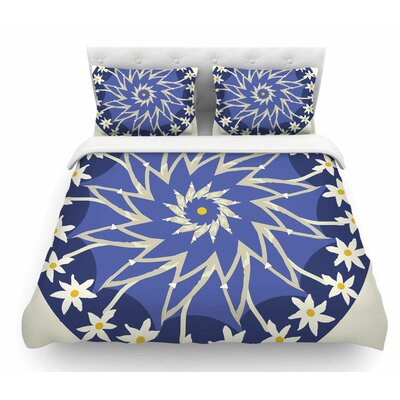 Sawtooth Flower by Laura Nicholson Nature Featherweight Duvet Cover Size: Queen