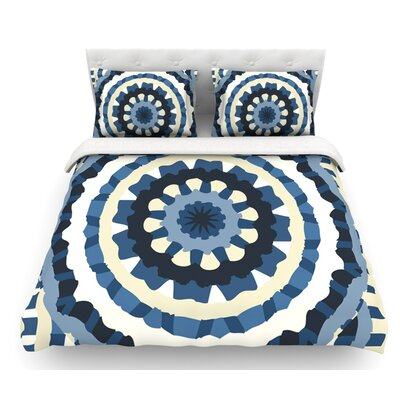 Ribbon Mandala by Laura Nicholson Featherweight Duvet Cover Size: Twin
