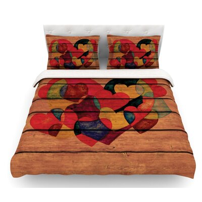 Wooden Heart by Louise Machado Featherweight Duvet Cover Size: King