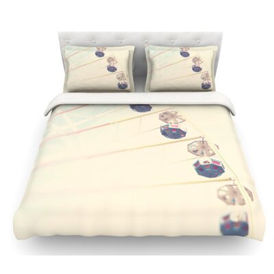 Its All a Blur by Laura Evans Ferris Wheel Featherweight Duvet Cover Size: King
