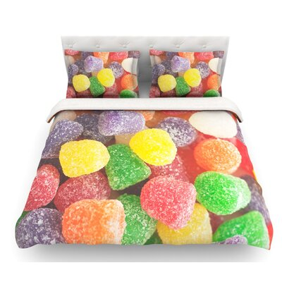I Want Gum Drops by Libertad Leal Featherweight Duvet Cover Size: Twin, Fabric: Cotton
