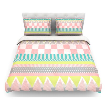 Luna by Louise Machado Featherweight Duvet Cover Size: Queen, Fabric: Lightweight Polyester