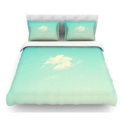 Cloud 9 by Libertad Leal Sky Featherweight Duvet Cover Size: Queen