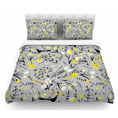 Blackbirds by Laura Nicholson Featherweight Duvet Cover Size: King