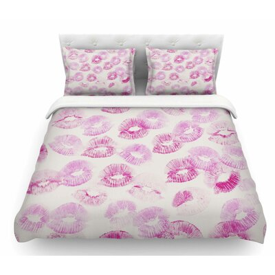 Kiss Me by Kristi Jackson Featherweight Duvet Cover Size: Twin