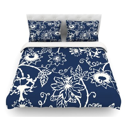 Passion Flower by Laura Nicholson Floral Featherweight Duvet Cover Size: Twin