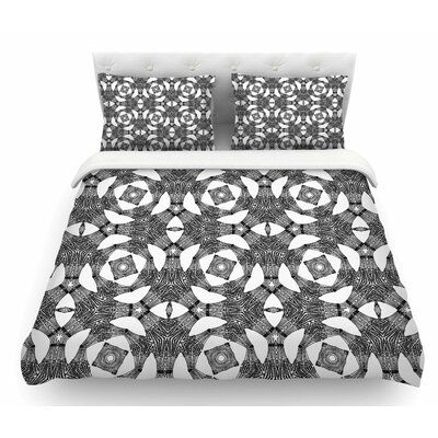 Twiggy Boxes by Laura Nicholson Geometric Featherweight Duvet Cover Size: Twin