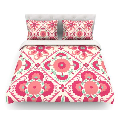 Bukhara by Laura Nicholson Floral Featherweight Duvet Cover Size: King