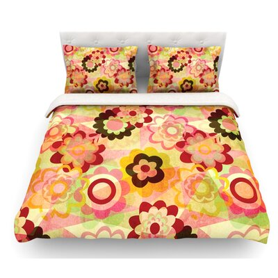 Colorful Mix by Louise Machado Featherweight Duvet Cover Size: King, Fabric: Woven Polyester