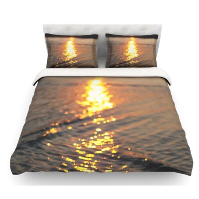 Still Waters by Libertad Leal Sunset Featherweight Duvet Cover Size: Twin, Fabric: Cotton