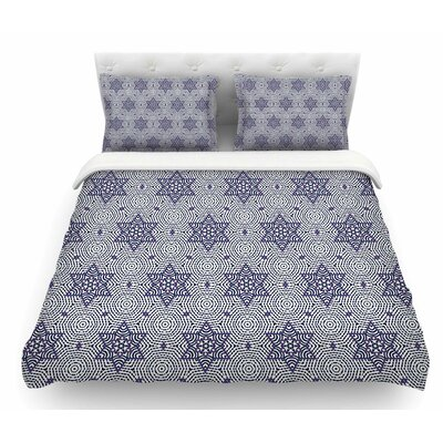Star Power by Laura Nicholson Geometric Featherweight Duvet Cover Size: King