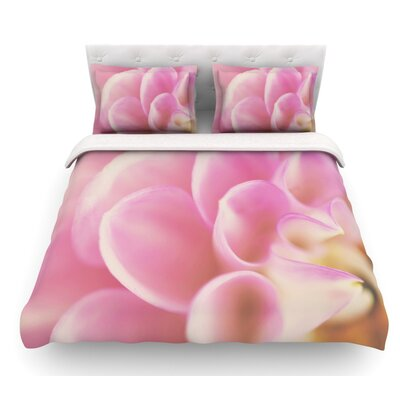 Up Close and Personal by Laura Evans Floral Featherweight Duvet Cover Size: Queen