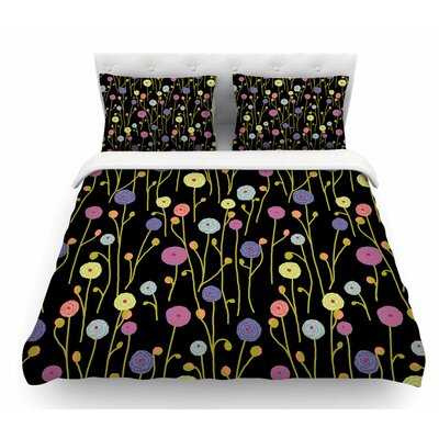 Ranunculas by Laura Nicholson Floral Featherweight Duvet Cover Size: Twin