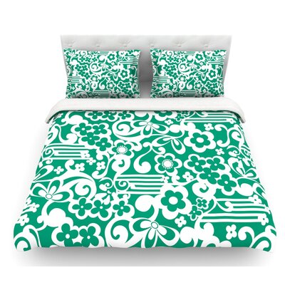 Esmerald by Louise Machado Featherweight Duvet Cover Size: Queen