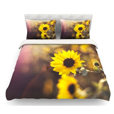 Magic Light by Libertad Leal Flower Featherweight Duvet Cover Size: King, Fabric: Woven Polyester