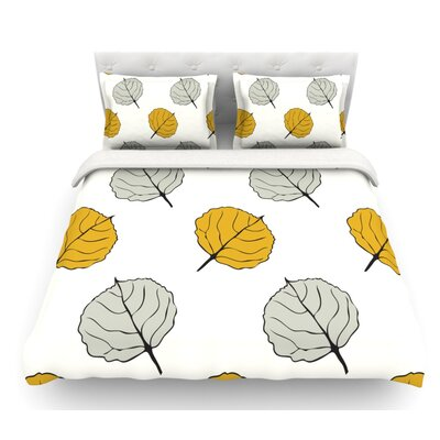 Quaking Leaf by Laurie Baars Featherweight Duvet Cover Size: Twin, Fabric: Lightweight Polyester