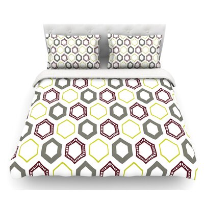Hexy Small by Laurie Baars Geometric Featherweight Duvet Cover Size: Twin