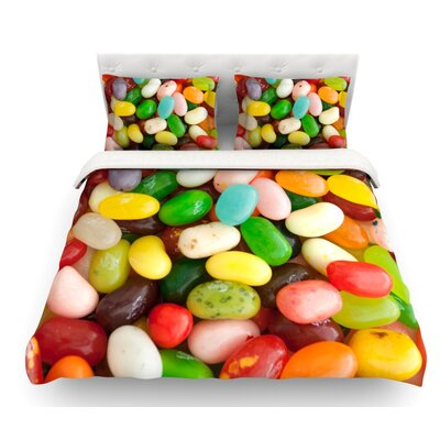 I Want Jelly Beans by Libertad Leal Featherweight Duvet Cover Size: King, Fabric: Woven Polyester