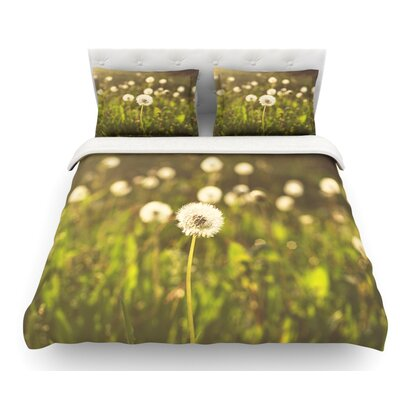 As You Wish by Libertad Leal Dandelions Featherweight Duvet Cover Size: Queen