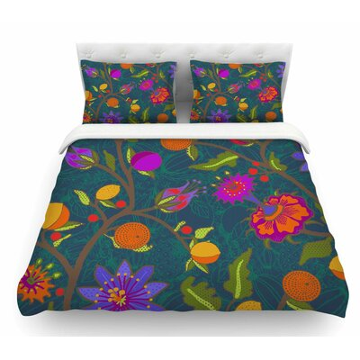 Flora Exotica by Laura Nicholson Floral Featherweight Duvet Cover Size: Queen