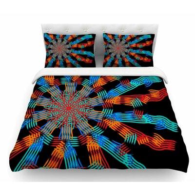 Ribbon Ring by Laura Nicholson Abstract Featherweight Duvet Cover Size: Twin