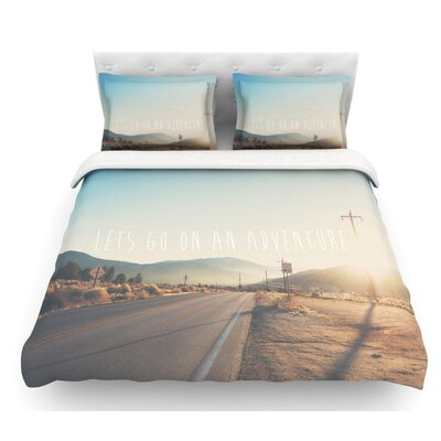 Lets Go on an Adventure by Laura Evans Featherweight Duvet Cover Size: Queen