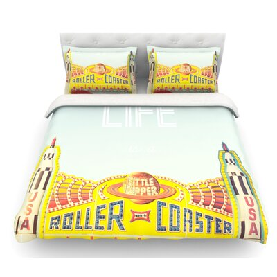 Life is a Rollercoaster by Libertad Leal Featherweight Duvet Cover Size: Twin, Fabric: Woven Polyester