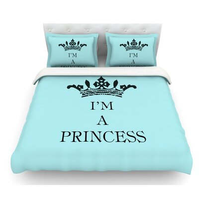 Im a Princess by Louise Machado Featherweight Duvet Cover Size: Twin, Fabric: Lightweight Polyester