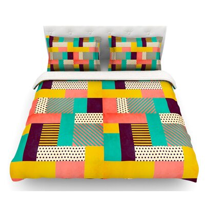 Geometric Love by Louise Machado Abstract Featherweight Duvet Cover Size: King