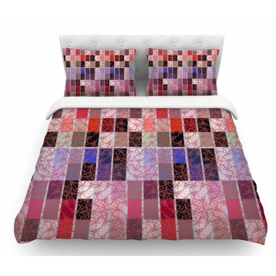 Ruby Tiles by Laura Nicholson Featherweight Duvet Cover Size: King