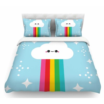 Mr. Rainbow  Kids Featherweight Duvet Cover Size: Queen
