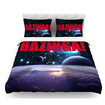 Bazinga  Featherweight Duvet Cover Color: Red, Size: King