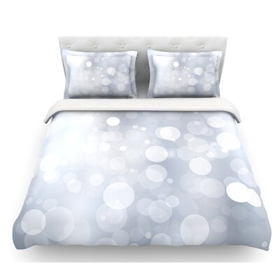 KESS Original Bokeh Featherweight Duvet Cover Color: Gray, Size: Queen, Fabric: Lightweight Polyester