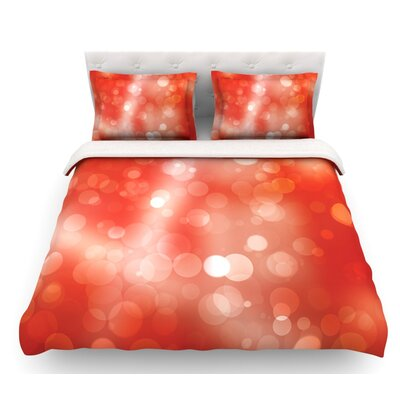Passion Fruit  Bokeh Featherweight Duvet Cover Size: Twin, Fabric: Woven Polyester