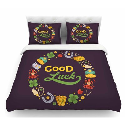 Good Luck!  Featherweight Duvet Cover Size: Queen