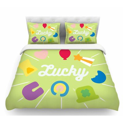 Lucky  Featherweight Duvet Cover Size: Queen