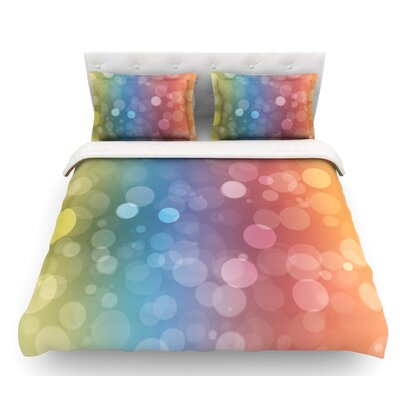 Prism  Bokeh Featherweight Duvet Cover Size: Queen, Fabric: Lightweight Polyester