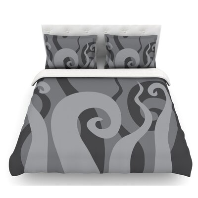 Poor Unfortunate Souls  Featherweight Duvet Cover Size: Queen, Color: Gray