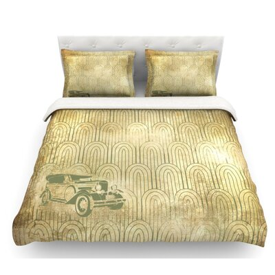 Deco Car  Featherweight Duvet Cover Size: Twin, Fabric: Lightweight Polyester