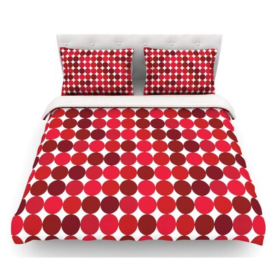 Noblefur  Featherweight Duvet Cover Color: Red, Size: Twin