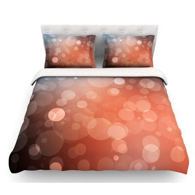 Sunset  Bokeh Featherweight Duvet Cover Size: Queen, Fabric: Woven Polyester