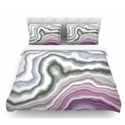 Wild Boysenberry  Geological Featherweight Duvet Cover Size: King