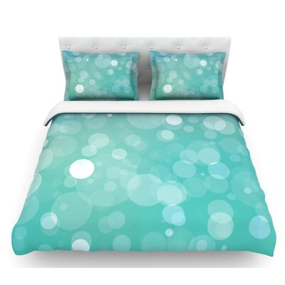 Let it Go  Bokeh Featherweight Duvet Cover Size: Queen, Fabric: Woven Polyester