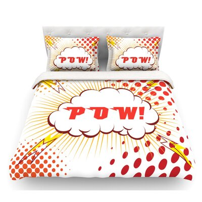 POW!  Cartoon Featherweight Duvet Cover Size: Queen, Fabric: Woven Polyester