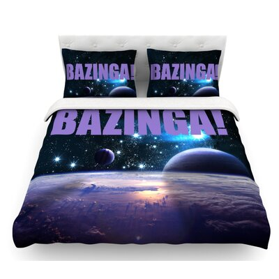 Bazinga  Featherweight Duvet Cover Color: Purple, Size: King